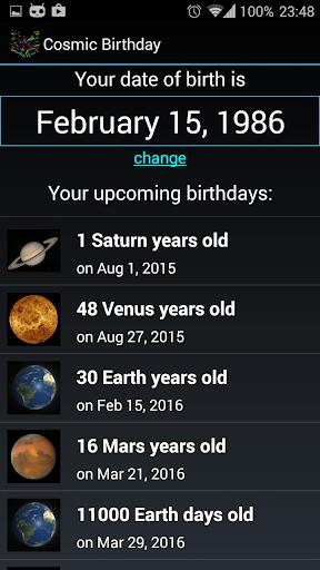 Cosmic Birthday