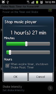 PowerAMP ShakeMusicTimer Trial - screenshot thumbnail