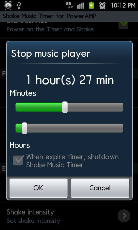 PowerAMP ShakeMusicTimer Trial- screenshot