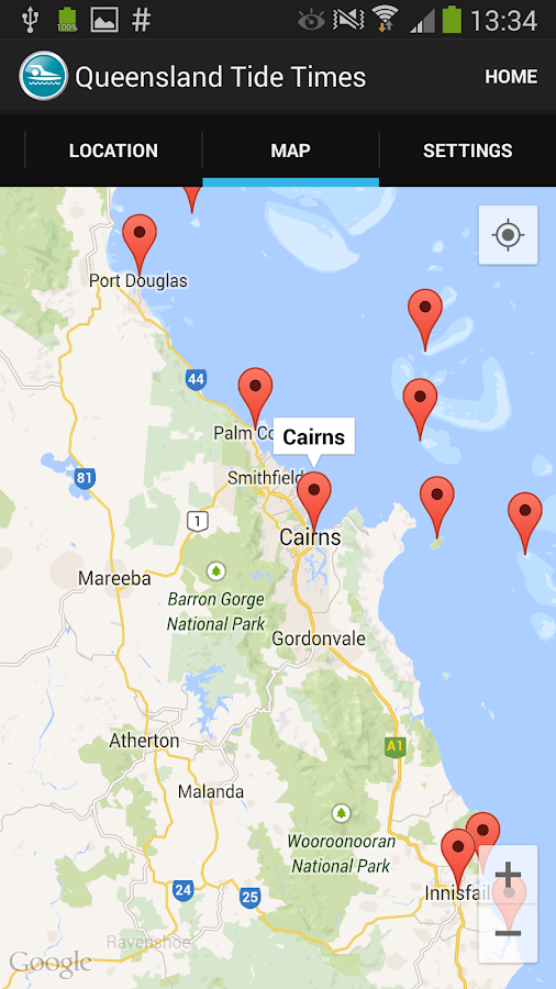 Queensland Tide Times- screenshot