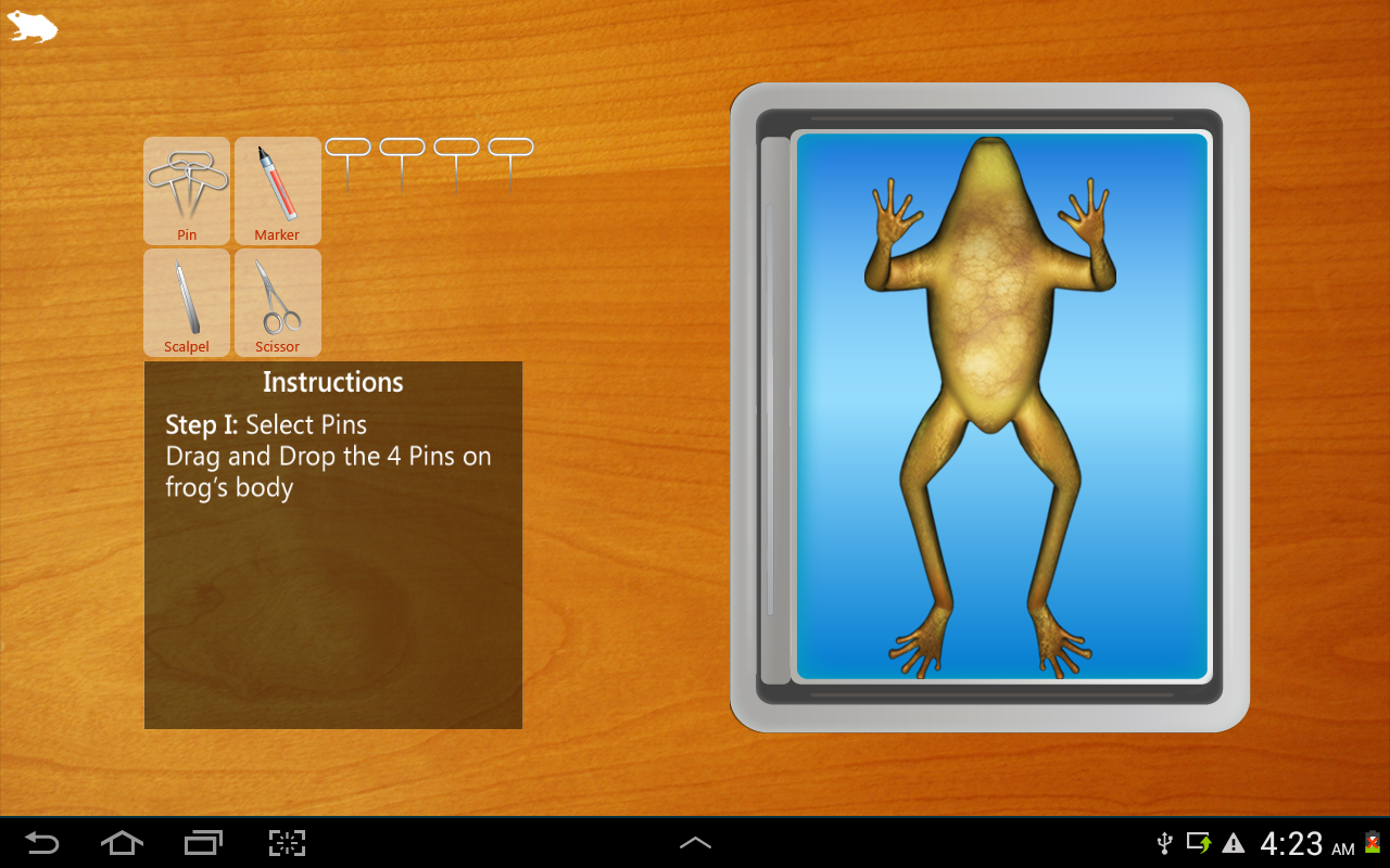 Frog Dissection for tablet- screenshot