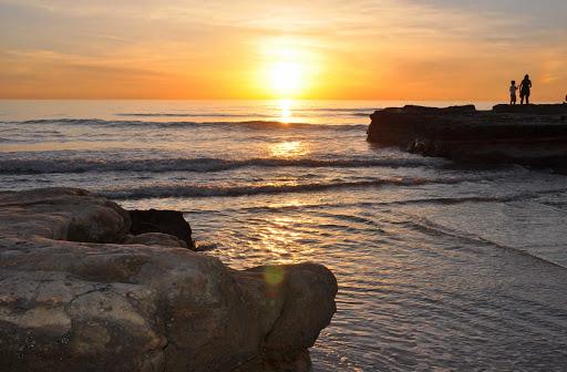 Torrey Pines, near San Diego, at sunset.
