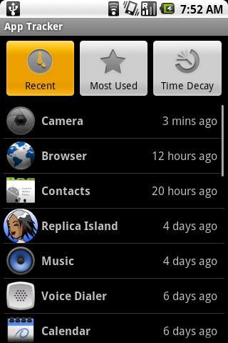 App Tracker- screenshot