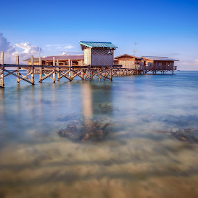 Fisherman House by Aditya Permana - Buildings & Architecture Bridges & Suspended Structures ( water, tidung, waterscape, indonesia, sea, seascape, beach, house, landscape, nikon, island, Free, Freedom, Inspire, Inspiring, Inspirational, Emotion,  )