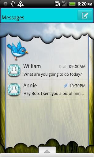 GO SMS THEME SpringFeaver4U2