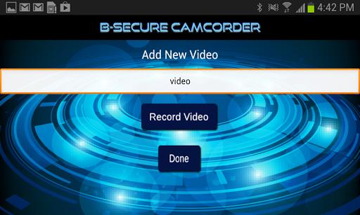 B-Secure Camcorder Premium