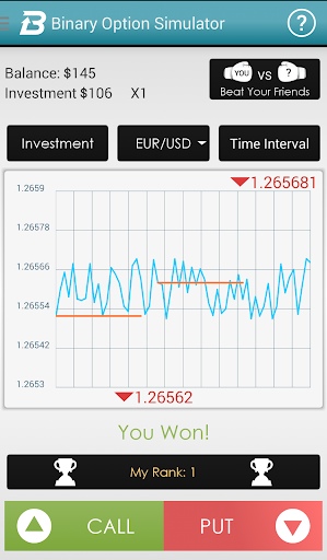 Option trading simulator app