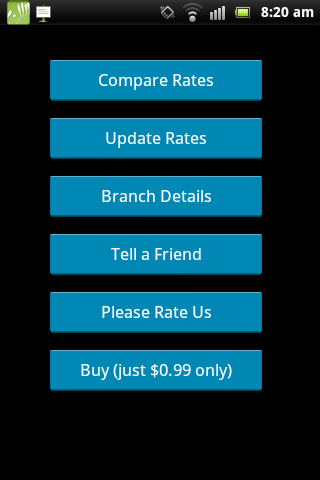 Remittance Rates and Locations - screenshot