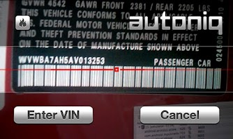 Screenshot of VIN Scanner