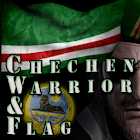 Chechen Warrior & Flag icon