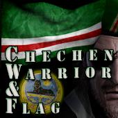 Chechen Warrior & Flag