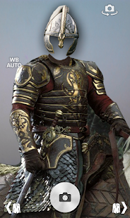 Knight armor suit photomontage screenshot