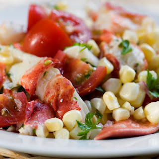 Tarragon Lobster Salad with Corn and Tomatoes