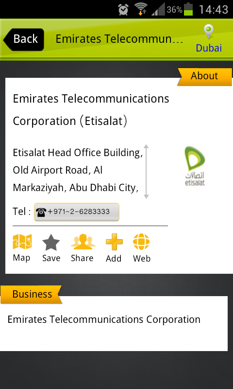UAE YellowPages- screenshot