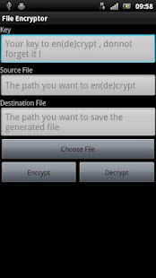 File Encryptor - screenshot thumbnail
