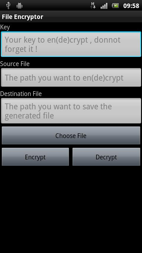 File Encryptor - screenshot