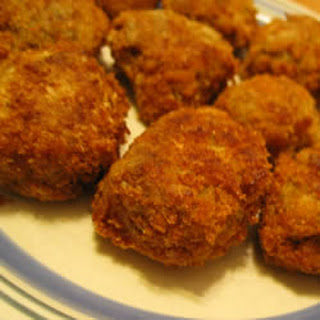 Tasty Fried Eggplant Balls.