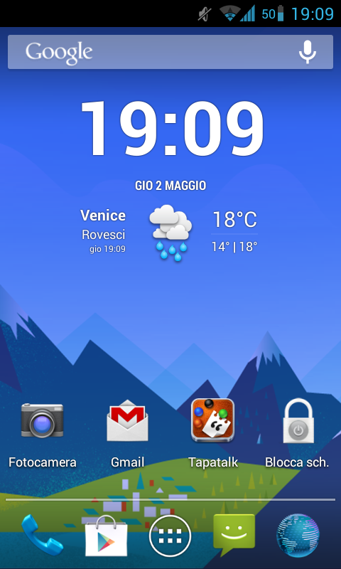 GoogleNowWallpaper- screenshot