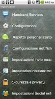 Screenshot of Handcent SMS Italian Language