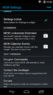 Month Calendar Widget - screenshot thumbnail