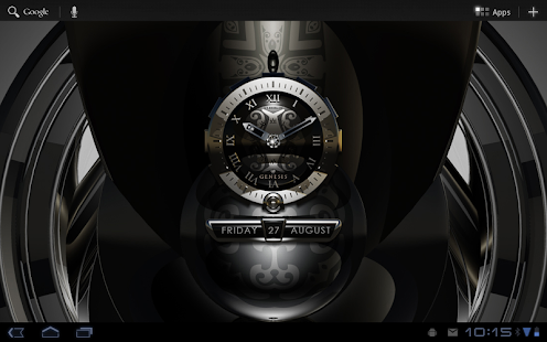 GENESIS designer clock widget - screenshot thumbnail