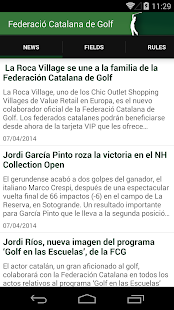 Catalan Golf Federation- screenshot thumbnail
