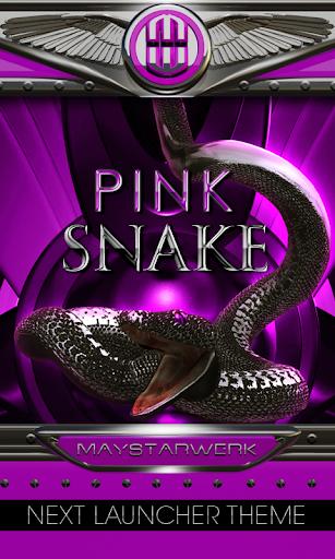 Next Launcher Theme pink snake