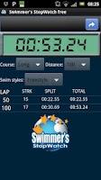 Screenshot of Swimmer's StopWatch free