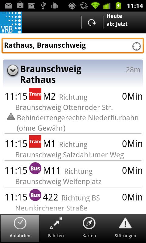 VRB Bus+Bahn - screenshot