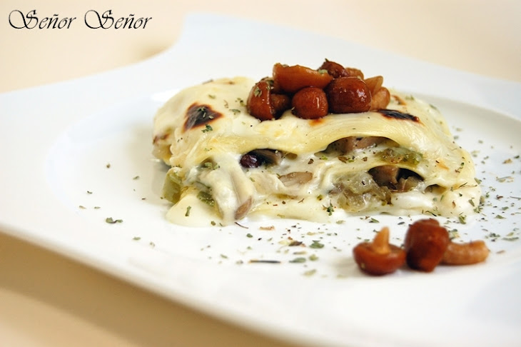 Mushroom Lasagna with Gorgonzola Bechamel Recipe