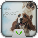 Cute Pets Live Locker Theme icon