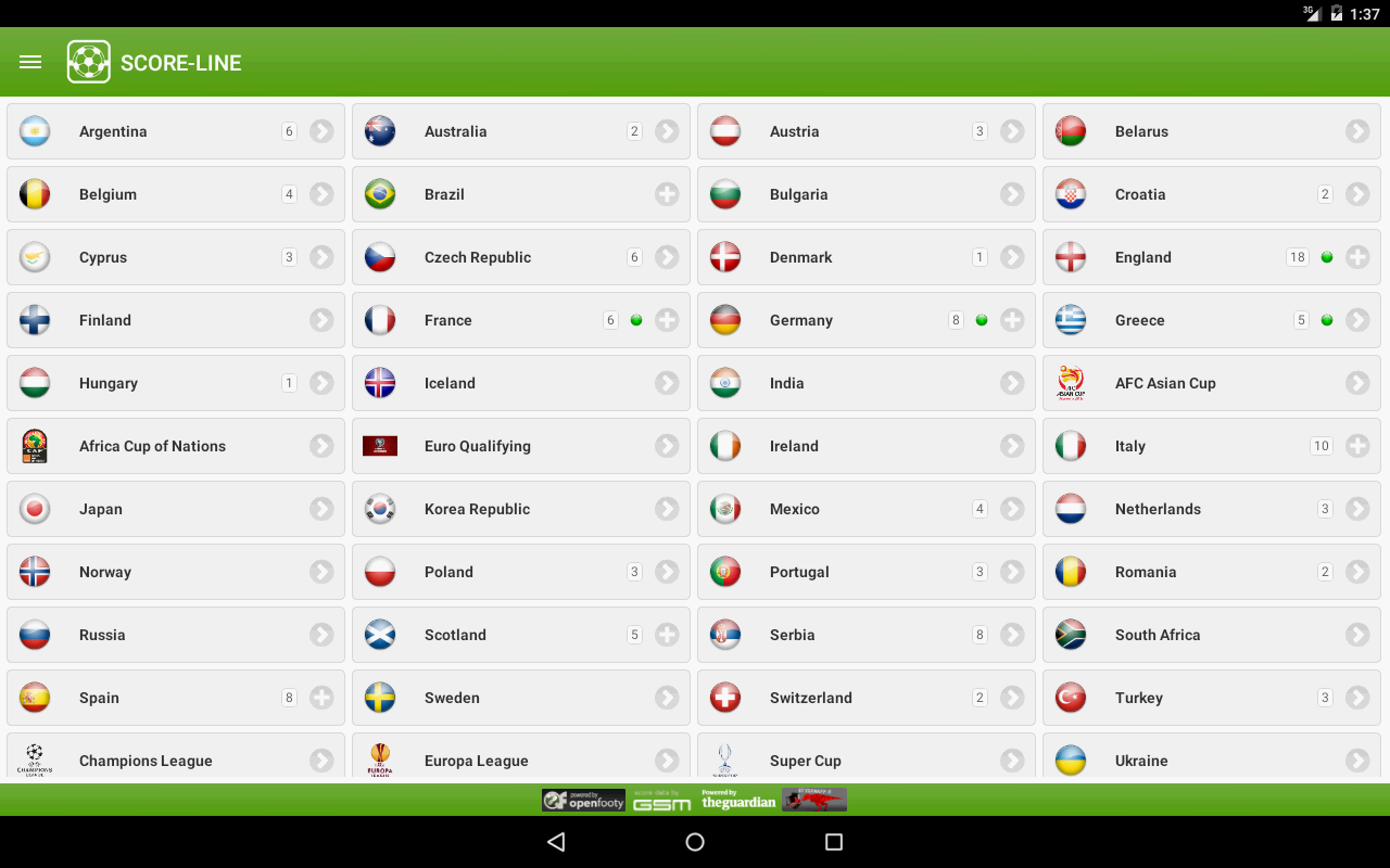 SCORE-LINE - Live Score- screenshot