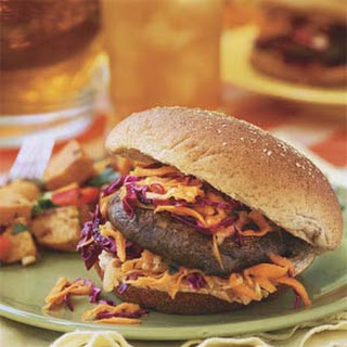 Portobello Mushroom Burgers With Carrot-Cabbage Slaw