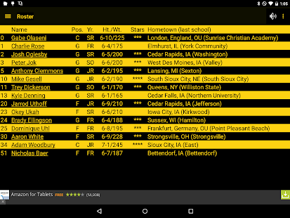 Hawkeye Basketball Schedule- screenshot thumbnail