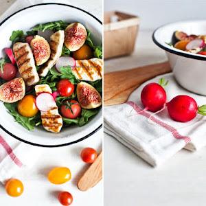 Fresh Fig and Halloumi Salad