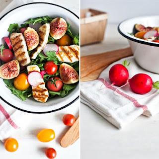 Fresh Fig and Halloumi Salad.