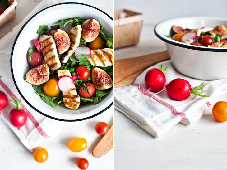 Fresh Fig and Halloumi Salad Recipe