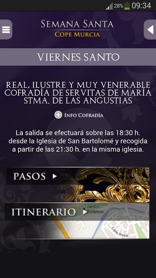 Semana Santa Reg. Murcia - screenshot