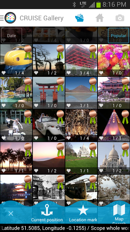 CRUISE-photo navigation/album- - screenshot