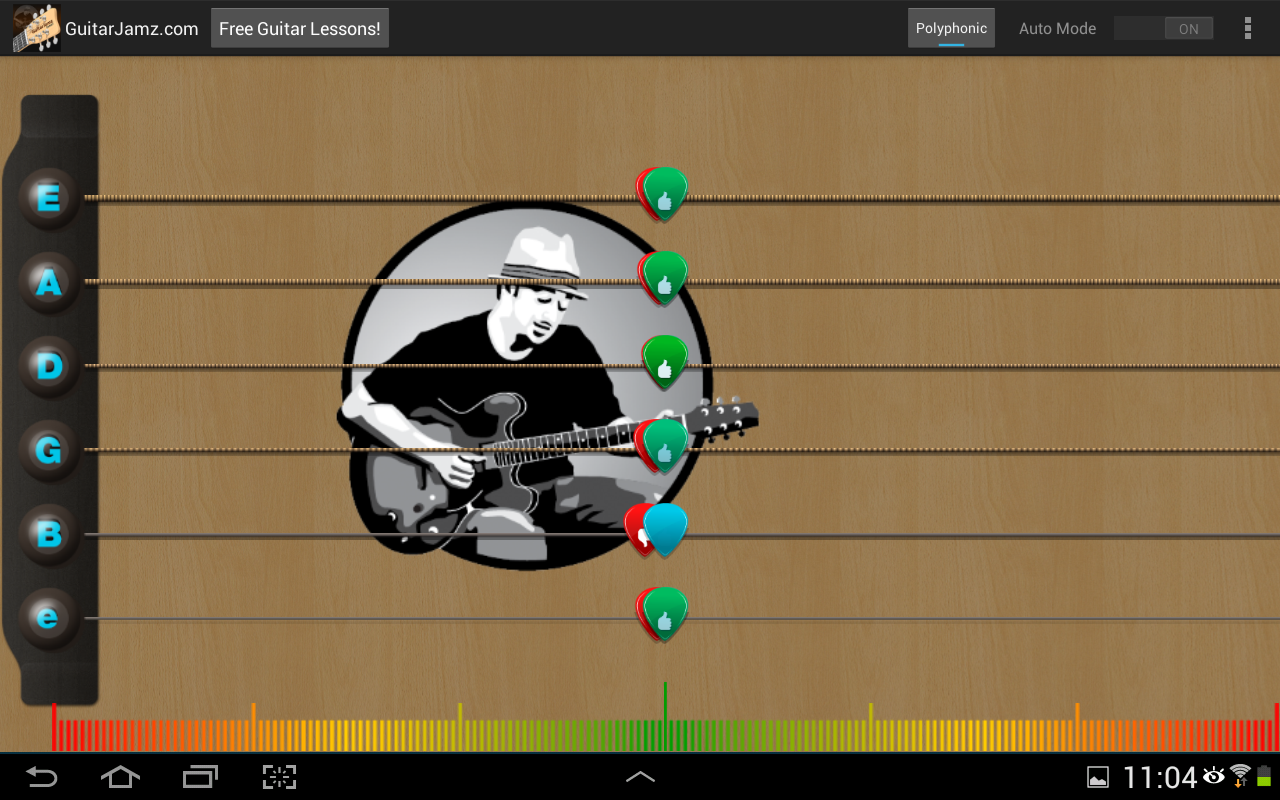 Guitar Jamz Polyphonic Tuner- screenshot