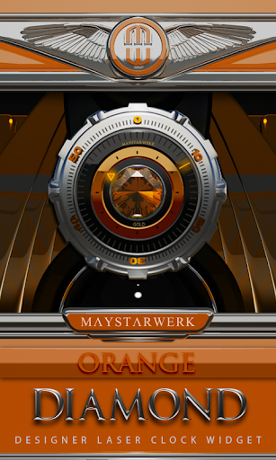 Clock Widget Orange Diamond