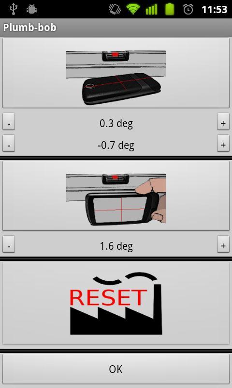 3D measurement app - Plumb-bob- screenshot