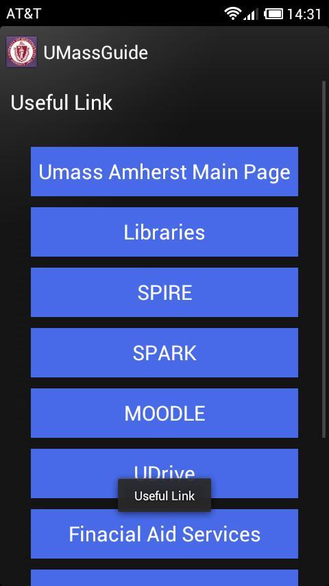 UMass Guide (Amherst)- screenshot