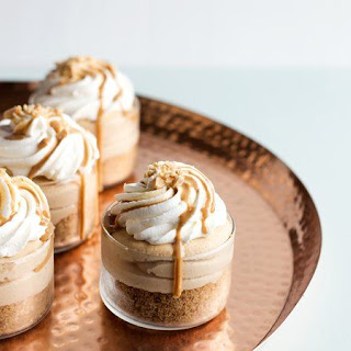 No-Bake Peanut Butter Cheesecakes.
