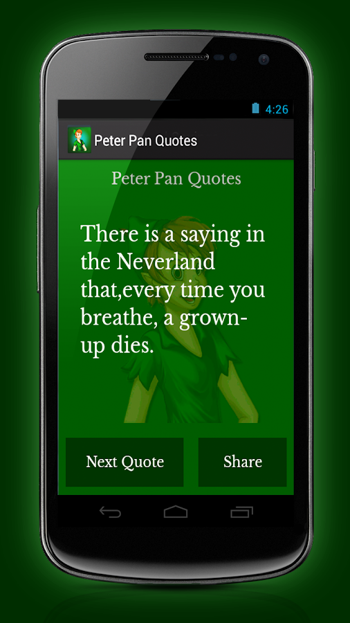 Peter Pan Quotes - screenshot