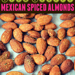 Slow Cooker Mexican Spiced Almonds.