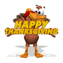 Turkey Happy Thanksgiving logo