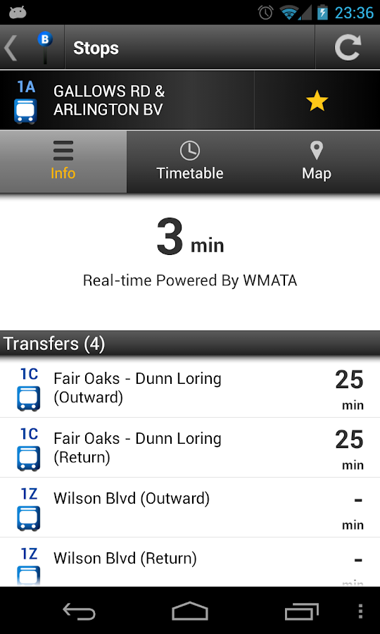 Washington DC Bus - screenshot