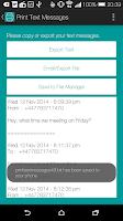 Screenshot of Print Text Messages