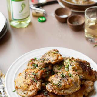 Sauvignon Blanc and Mustard Braised Chicken Thighs